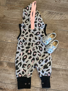 Leopard Hooded Baby Jumper