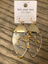 Foil Drop Earrings