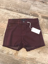 KanCan Burgandy Cutoff Shorts