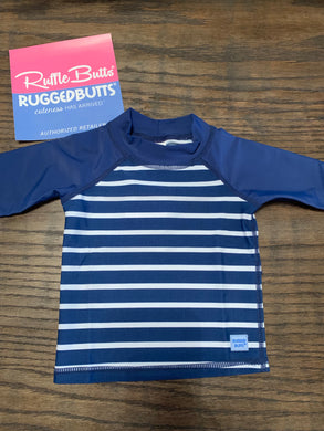 Navy Stripe Rash Guard