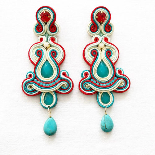 Soutache Yeimy Mix Turquesa