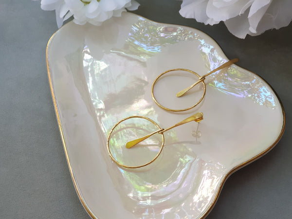Stagger Earrings Gold