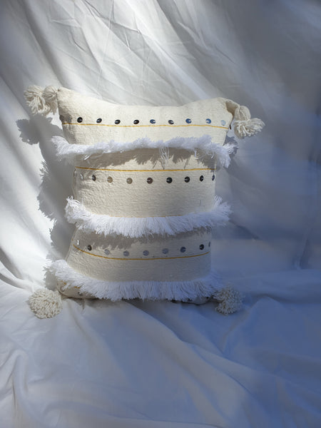 Hand Made Moroccan Tassel Cushion