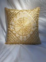 Hand Made Gold Moroccan Cushion