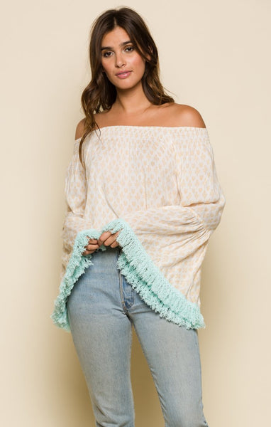 Gold Gypsy Off The Shoulder Top