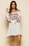 Wild Flower Off The Shoulder Dress