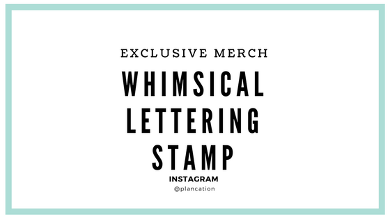 Whimsical Lettering Stamp