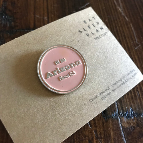 AZPG Pink Numbered Enamel Pin