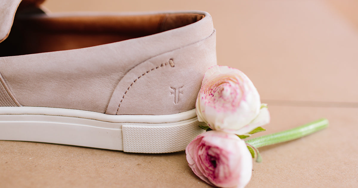 frye sneakers and rose