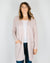 360 Cashmere Clothing Alva Open Oversized Cardi in Adobe Pink