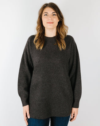 360 Cashmere Clothing Aria Crew Sweater in Espresso