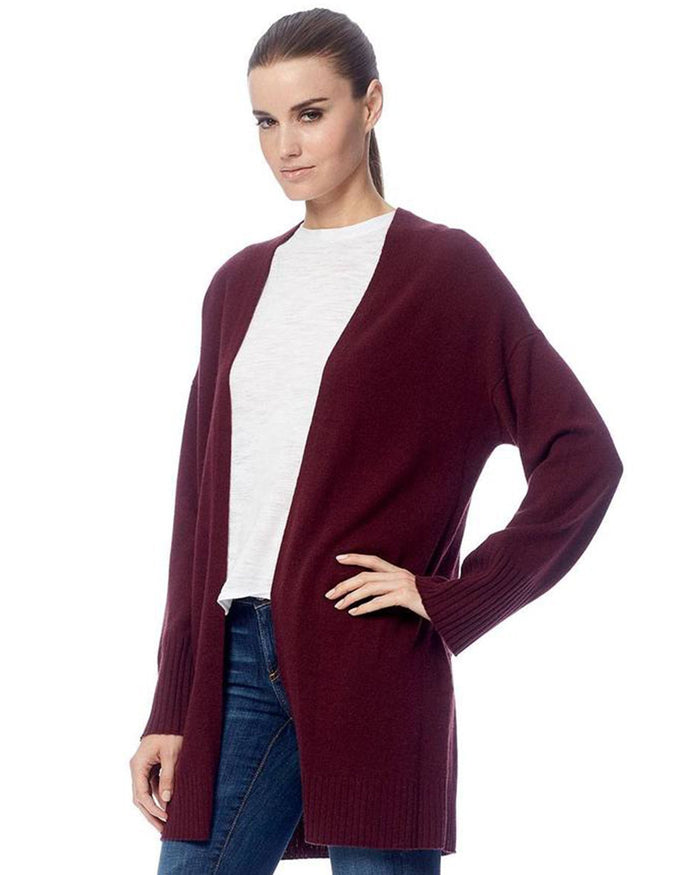 360 Cashmere Clothing Ariana Cardigan in Merlot