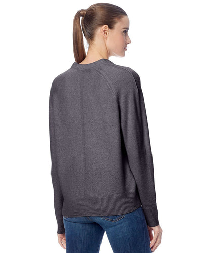360 Cashmere Clothing Callie V Neck Sweater in Mid Heather Grey
