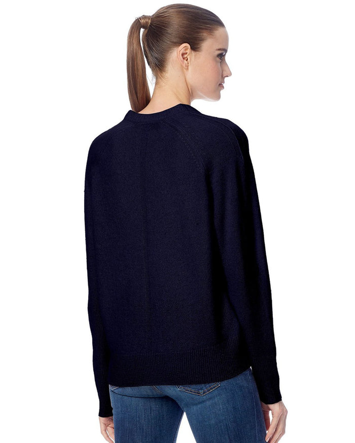 360 Cashmere Clothing Callie V Neck Sweater in Navy
