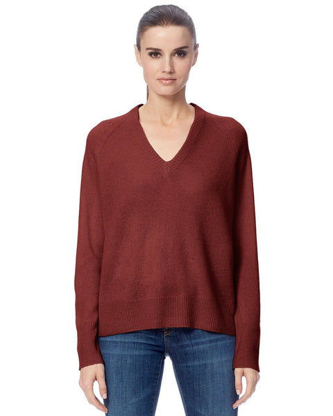 360 Cashmere Clothing Rosewood / XS Callie V Neck Sweater