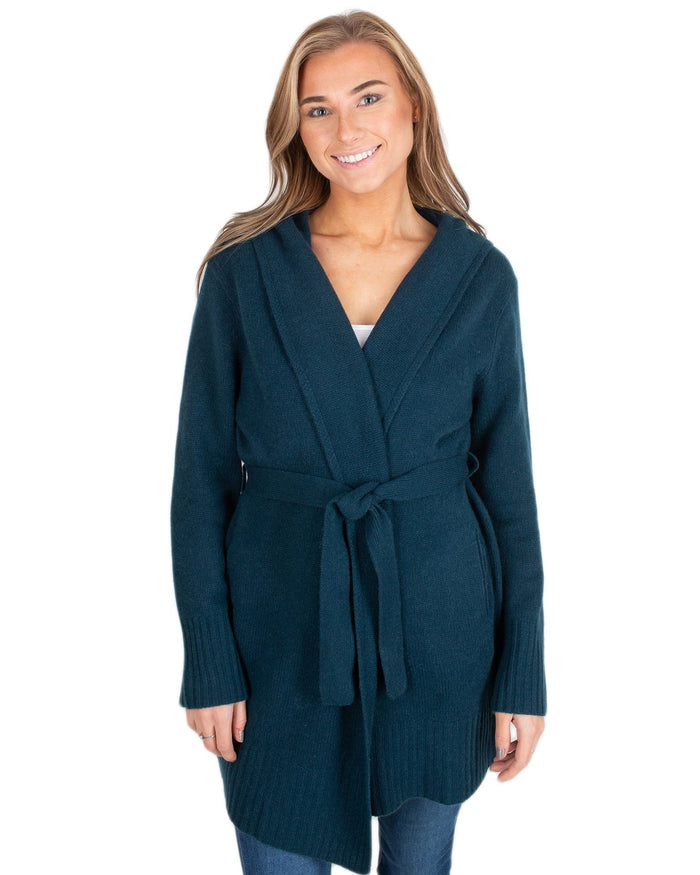 360 Cashmere Clothing Kelp / XS Charlotte Belted Cardi