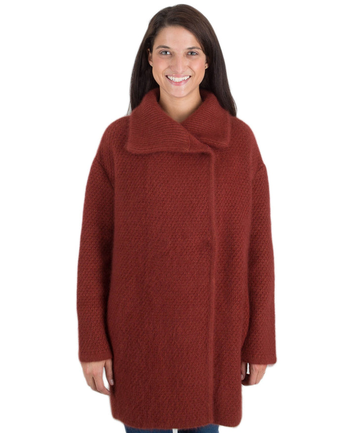 360 Cashmere Clothing Mahogany / XS Elsie Coat in Mahogany