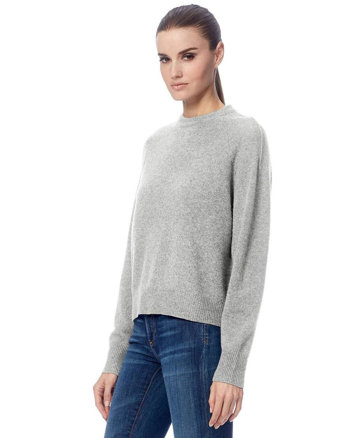 360 Cashmere Clothing Gracie Pullover Sweater in Light Heather Grey