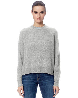 360 Cashmere Clothing Light Heather Grey / XS Gracie Pullover Sweater in Light Heather Grey