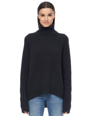 360 Cashmere Clothing Hillary Turtleneck in Black