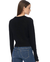 360 Cashmere Clothing Jessika Crop Raglan in Black