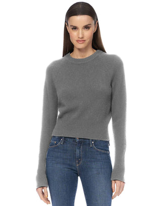 360 Cashmere Clothing Jessika Crop Raglan in Mid Heather Grey