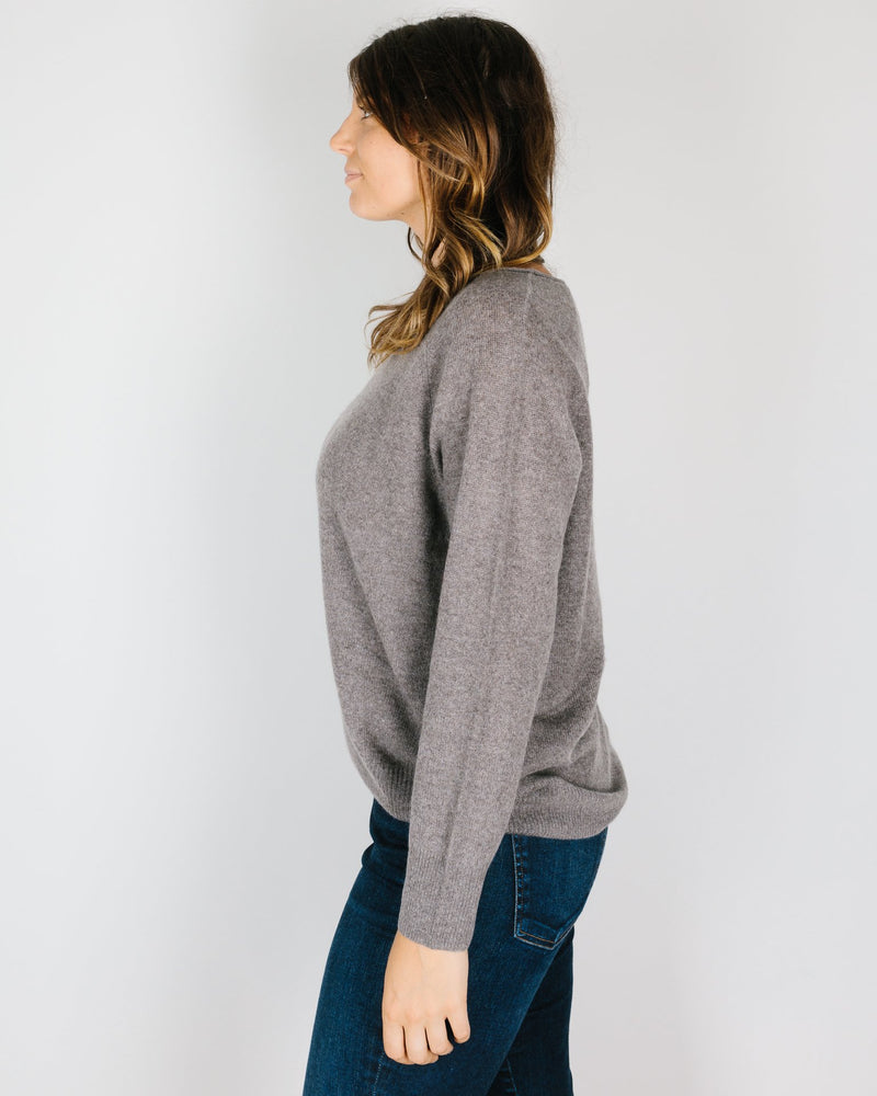 360 Cashmere Clothing Kacey Loose Boatneck in Porcupine