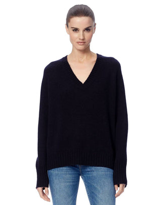 360 Cashmere Clothing Black / XS Katherine V Neck Sweater