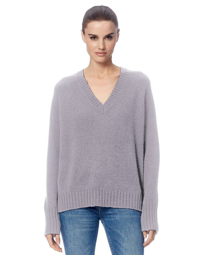 360 Cashmere Clothing Dove / XS Katherine V Neck Sweater