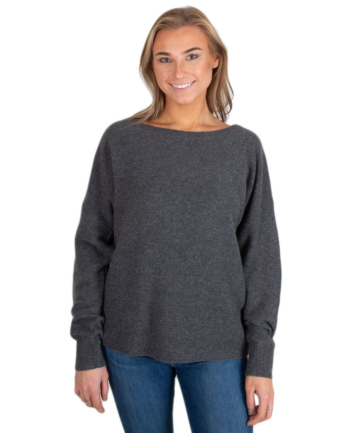 360 Cashmere Clothing Charcoal / XS Kaylee Crew Sweater