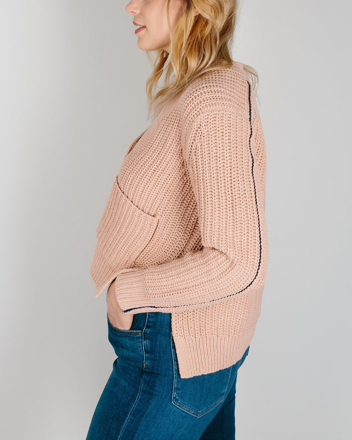 360 Cashmere Clothing Warm Sand / XS Marigold Cardigan in Warm Sand