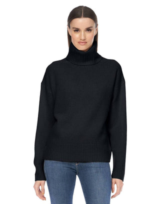 360 Cashmere Clothing Maybel Turtleneck in Black