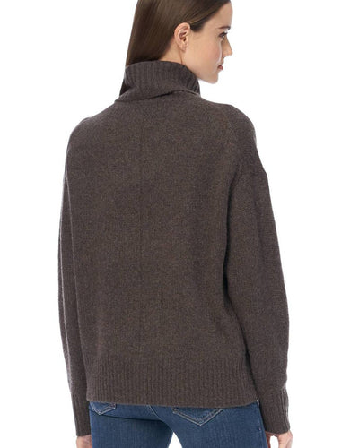 360 Cashmere Clothing Maybel Turtleneck in Espresso