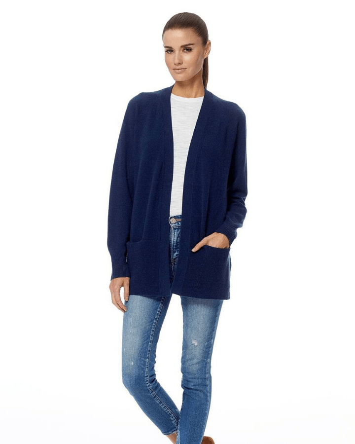 360 Cashmere Clothing Navy / XS Michaela Cardigan in Navy