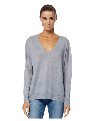 360 Cashmere Clothing Misha Sweater in Platinum