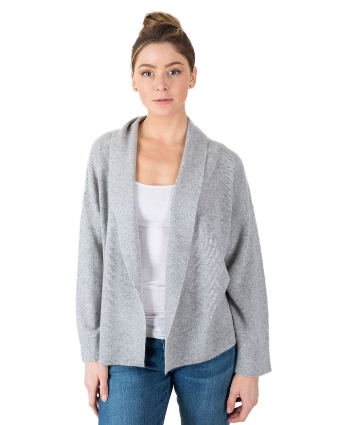 360 Cashmere Clothing Light Heather Grey / XS Monserrat Open Cardi
