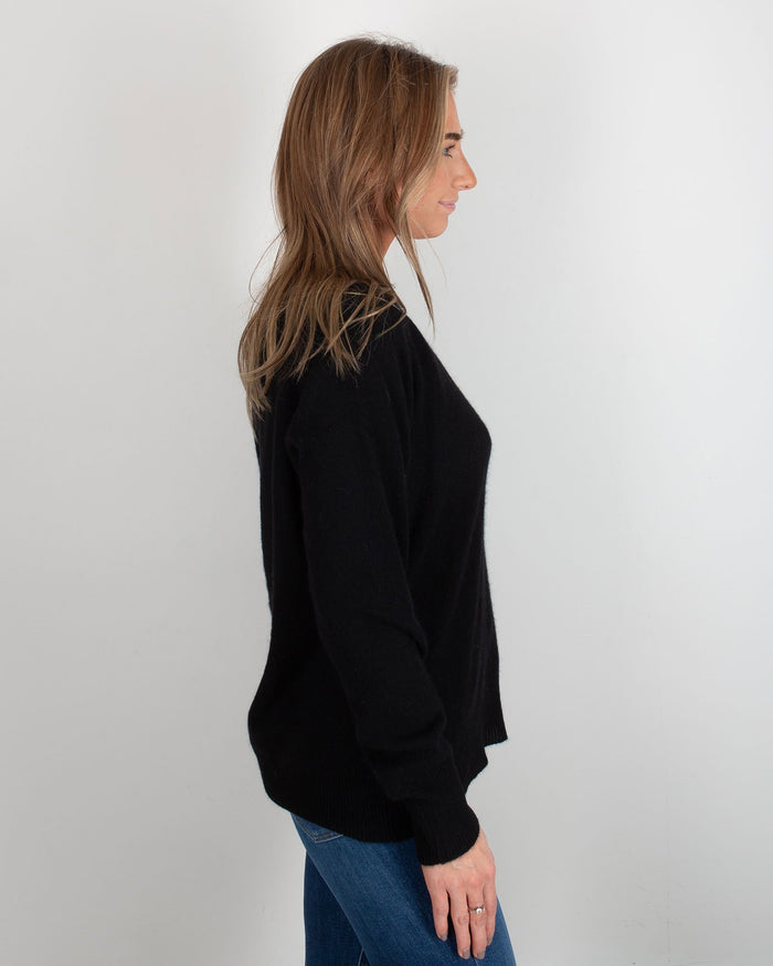 360 Cashmere Clothing Black / XS Nevaeh V Neck Sweater