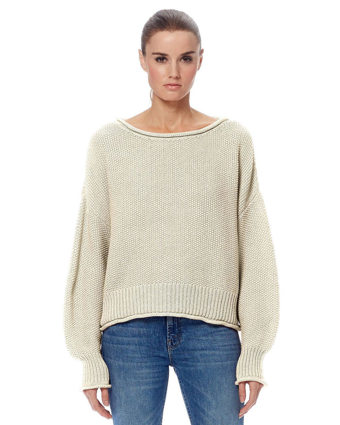 360 Cashmere Clothing Cream / XS Remy Ballon Sleeve Sweater