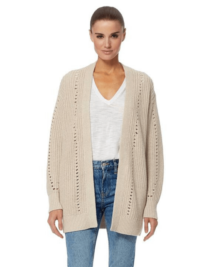 360 Cashmere Clothing Rose Cardigan in Hemp