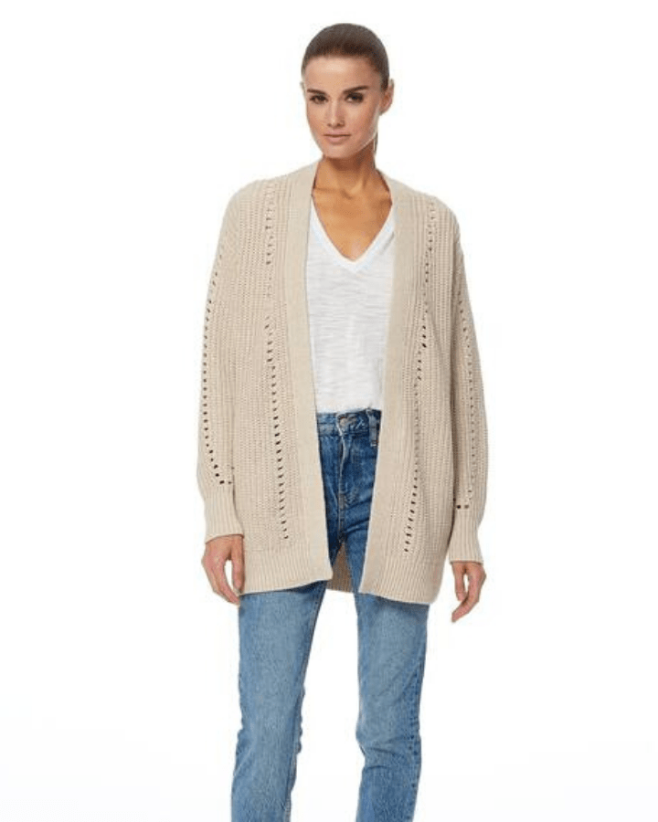 360 Cashmere Clothing Hemp / XS Rose Cardigan in Hemp