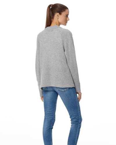 360 Cashmere Clothing Susan Tie Cardigan in Heather Grey