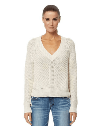 360 Cashmere Clothing Terra Sweater in Optic White