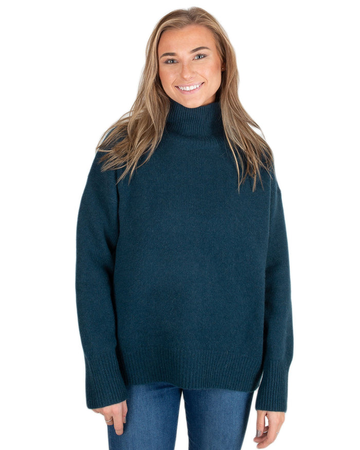 360 Cashmere Clothing Kelp / XS Valeria Turtleneck Sweater