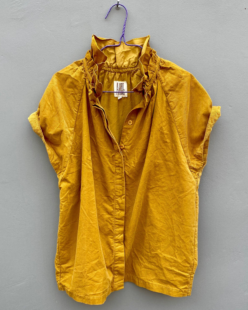 A Shirt Thing Clothing Stella  in Yellow Baby Corduroy