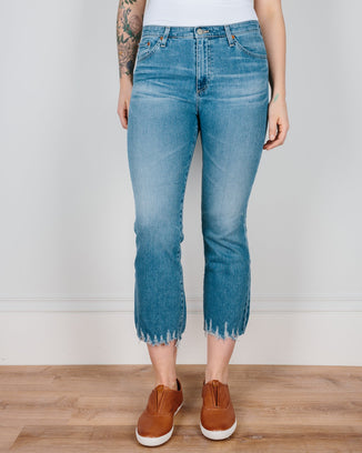 Adriano Goldschmied Denim 18 Years Ambrosial / 24 The Jodi Crop - Destroyed Hem