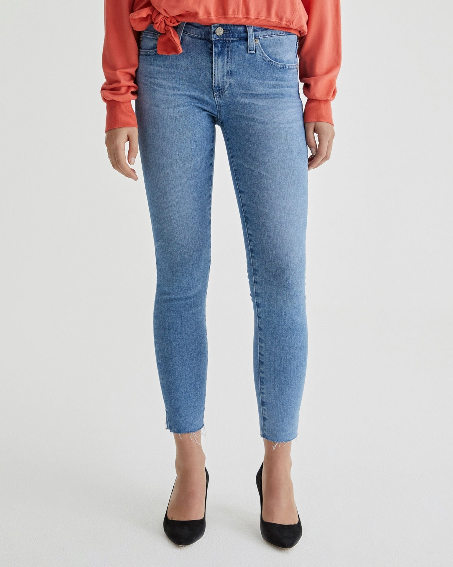 Adriano Goldschmied Denim 16Ys Serenity / 24 The Legging Ankle Split Hem in 16Ys Serenity