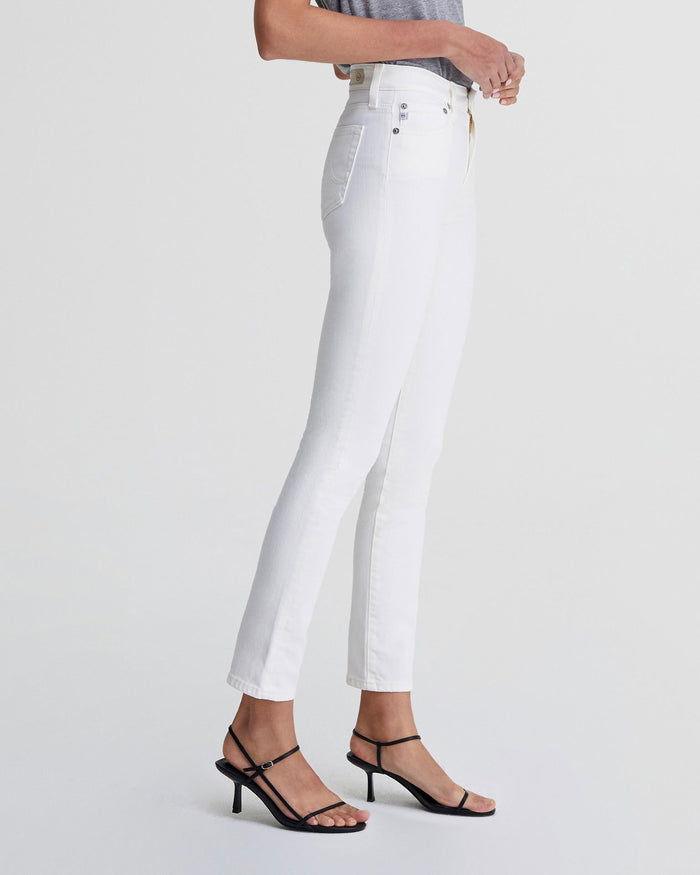 Adriano Goldschmied Denim 1Y Tonal White / 25 The Mari High Rise Straight in 1Year Total White