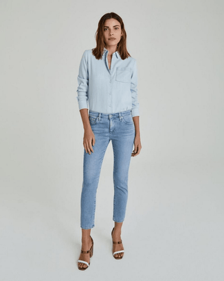 Adriano Goldschmied Denim The Prima Crop in 26 Years Skylight