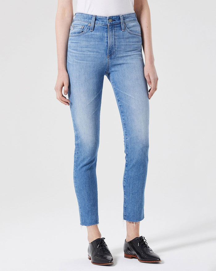 Adriano Goldschmied Denim 13Ys Awestruck / 24 The Sophia Ankle Split Hem in 13Ys Awestruck