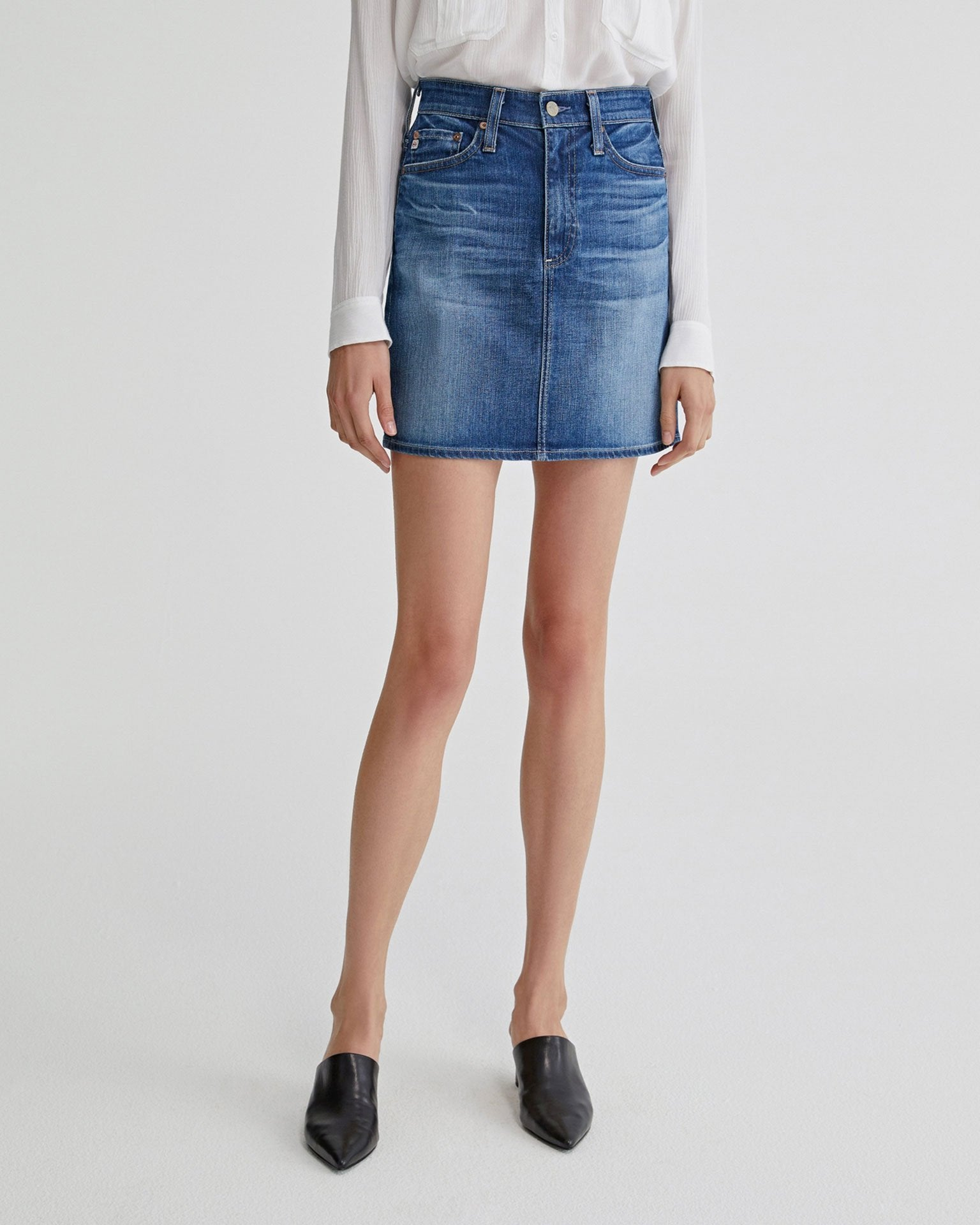 Adriano Goldschmied Denim 11Ys Fortitude / 24 The Vera Skirt in 11Ys Fortitude